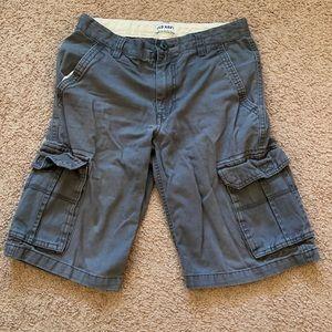 Blue/gray boys cargo shorts